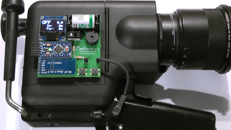 Cine Assist 1.2 auf einer Nizo Kamera